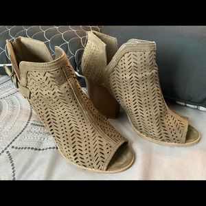 Quipid open toe booties